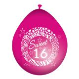 "8 ballons de baudruche ""Girly Sweet 16"""