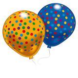 """8 ballons de baudruche """"Petits pois colorés"""""""