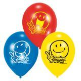 """6 ballons """"Drôles de smileys"""""""