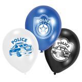 """6 ballons de baudruche """"Course poursuite de police"""""""