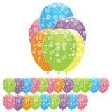 """6 ballons de baudruche """"Fête d'anniversaire colorée"""""""