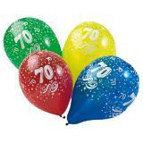 Ballons de baudruche 70 ans 5 pcs