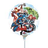 """Ballon en aluminium gonflé """"Avengers téméraires"""" 17 cm"""