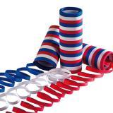 3 rouleaux de serpentins bleu-blanc-rouge