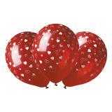 """Ballons de baudruche rouges """"Petits coeurs"""" 5 pcs."""