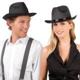 """Chapeau à rayures noires """"Mafioso"""""""