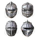 """Masques """"Braves chevaliers"""" 30 cm 4 pcs"""
