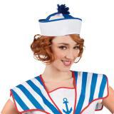 Bonnet de marin - bleu-blanc