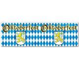 """Bannière métallisée """"Oktoberfest"""" 36 x 120 cm"""