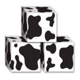 """3 mini coffrets cadeaux """"Motif vache"""""""