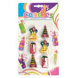 Mini bougies Happy Birthday 6 pcs 4,5 cm