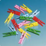 Mini pinces à linge colorées 20 pcs