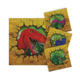 "16 mini-serviettes ""Dinosaures aventuriers"""