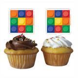 """Déco pour muffins """"Briques colorées"""" 12 pcs."""