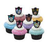 """Décos pour muffins """"Bagues Monster High"""" 12 pcs"""