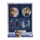 """Kit de déco pour muffins """"La reine des neiges"""" 48 pcs."""
