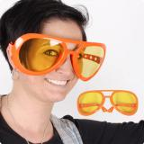 "Lunettes orange XXL ""Fifties"""