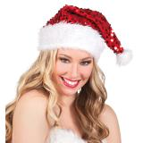 Bonnet de Noël à paillettes 37 cm