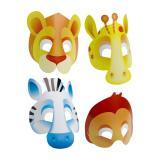 """8 masques en carton """"Jungle"""""""