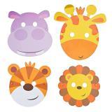 "8 masques en carton ""Adorables animaux de la jungle"""