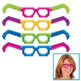 """4 paires de lunettes en carton """"Années 80"""""""