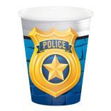 """8 Gobelets en carton """"Police cool"""""""
