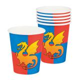"""6 gobelets en carton  """"Coeur de dragon"""""""