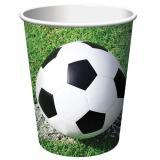 "8 gobelets en carton ""Vive le foot !"""