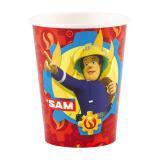 """8 gobelets en carton """"Sam le pompier courageux"""""""