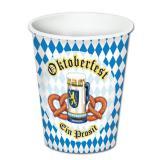 """8 gobelets en carton """"Fête de la bière - Prost !"""""""