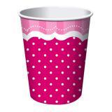 """8 gobelets en carton """"Pretty Pink"""""""