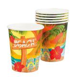 "6 Gobelets en carton ""Beach Party"""