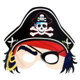"""Masque en carton """"Pirate"""" 25,5 cm"""