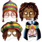 "Masques en carton ""Hippie"" 4 pcs."
