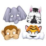 """Masques en carton """"Amis des animaux"""" 4 pcs"""