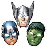 "8 masques en carton ""Avengers"""