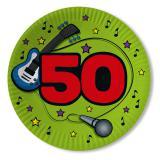 """10 assiettes en carton """"50 ans en musique"""""""