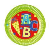 """8 assiettes en carton """"ABC - Petit écolier"""""""
