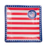 "8 assiettes en carton ""American Style"""