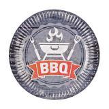"""8 assiettes en carton """"BBQ Time"""""""