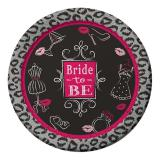 "8 assiettes en carton ""Bride to be"""