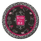 "8 assiettes en carton ""Bride to be"""