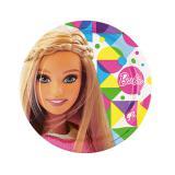 """8 assiettes en carton """"Le monde coloré de Barbie"""""""