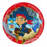 "8 assiettes ""Captain Jake & les pirates du pays imaginaire"""