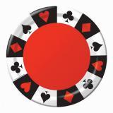 "8 assiettes en carton ""Casino Life"""