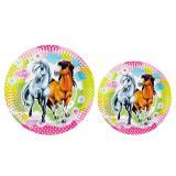 """8 assiettes en carton """"Charming Horses"""""""