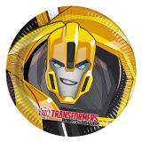 "8 assiettes en carton Transformers ""Robots in disguise"""