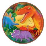 "8 assiettes en carton ""Monde des dinosaures"""
