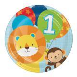 """8 Assiettes en carton """"Jungle Boys 1. anniversaire"""""""