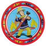 """8 assiettes en carton """"Sam le pompier"""""""
